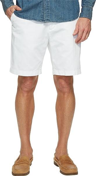 Nautica Mens Cotton Twill Flat Front Chino Deck Short
