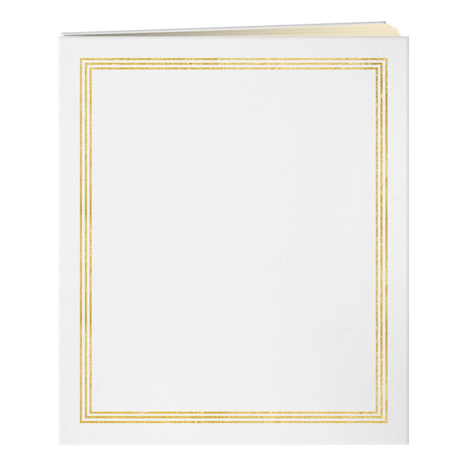 Pioneer Jumbo 11.75x14 Beige Page Scrapbook 100 Pages (50 Sheets), White