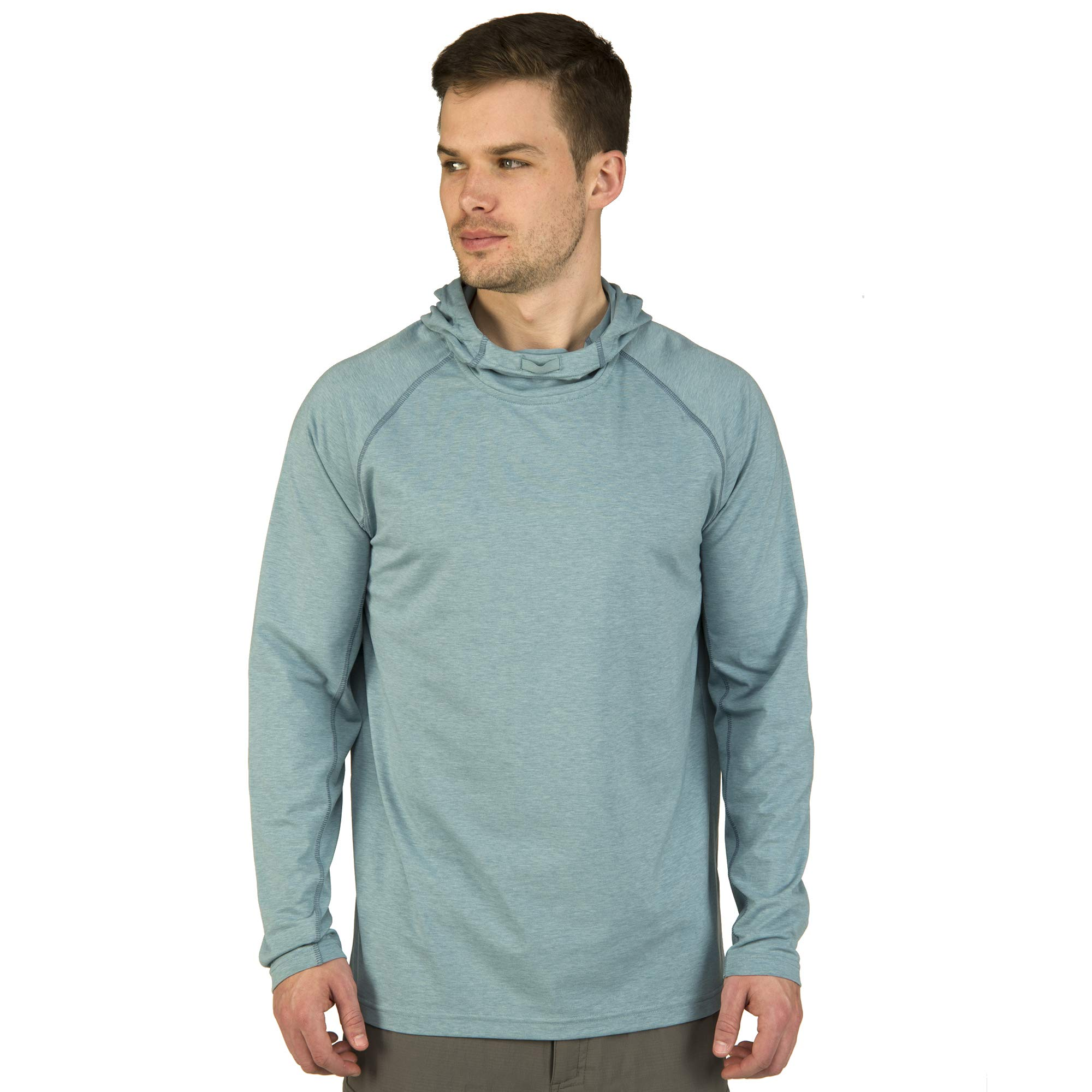 Ultimate Terrain Men's Trailhead Bug Repel Pullover Hoodie Hydro Heather (Xl)