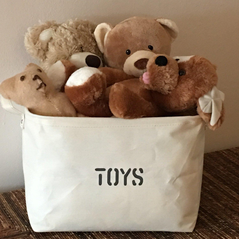 Amazon.com : OrganizerLogic Toy Storage Bins Beige - Blue - 22\