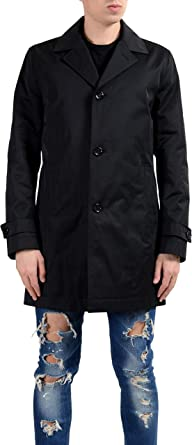 black hugo boss coat