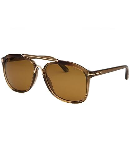 974835bf65 Amazon.com  Tom Ford 0300 50H Brown Gradient Cade Square Aviator Sunglasses  Lens Category 2  Shoes