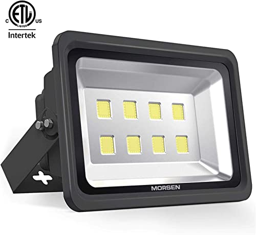 MORSEN LED Flood Lights,ETL Listed Ultra Bright Flood Lamp 400W 6000K Outdoor Lighting 36000 Lumens for Garden Yard Swimming Playground,Warehouse, Billboard and Commercial