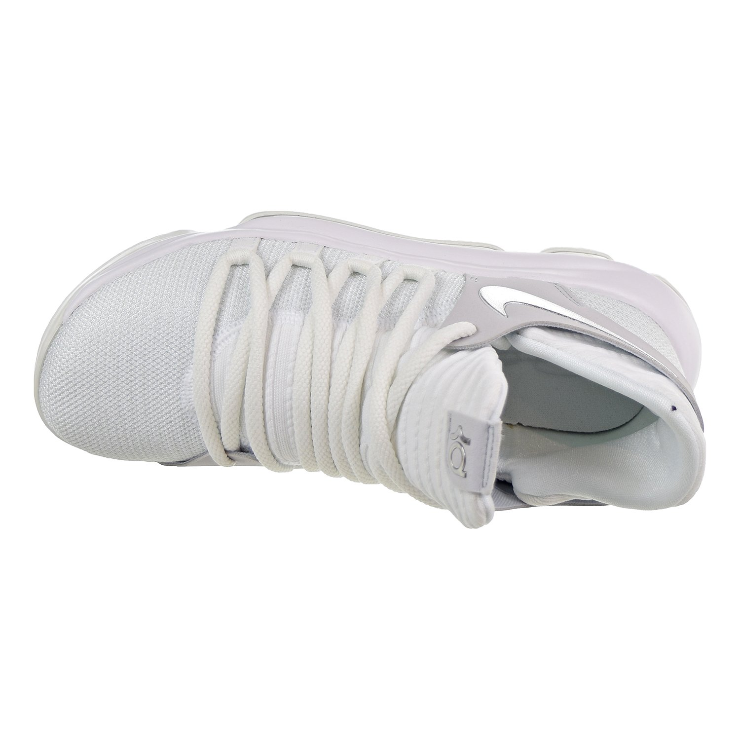 5y Nike Zoom KD10 GS Youth Basketball Sneakers White//Chrome-Pure Platinum
