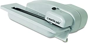 """Martin Yale 1628 Desktop Letter Opener with Concealed Blade, Gray, 8""""x10-1/2""""x4-3/4"""" Dimensions; Electric Operating Mode; 3000 Envelopes Per Hour; 1"""" Stack Capacity"""
