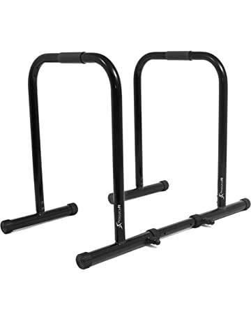 ProsourceFit Dip Stand Station, Heavy Duty Ultimate Body Press Bar with Safety Connector for Tricep