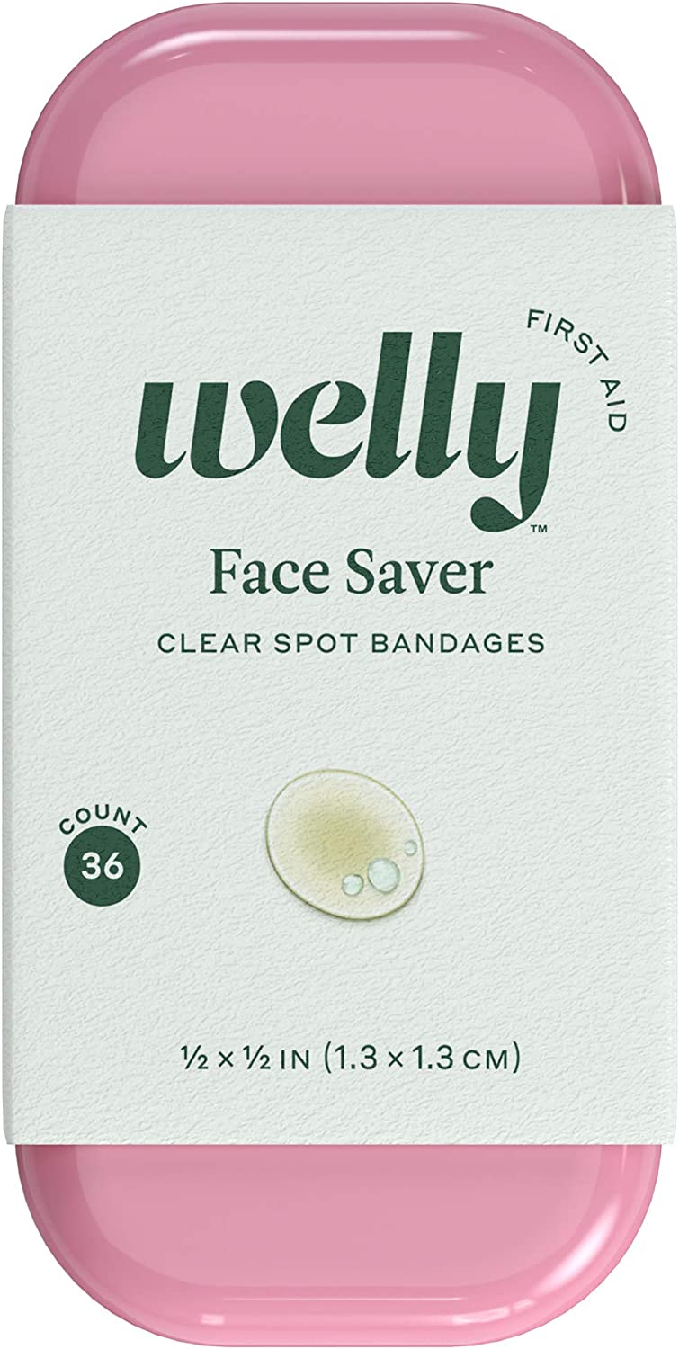 Welly Bandages - Face Savers, Hydrocolloid, Adhesive, Small Spot Shape, Clear - 36 ct