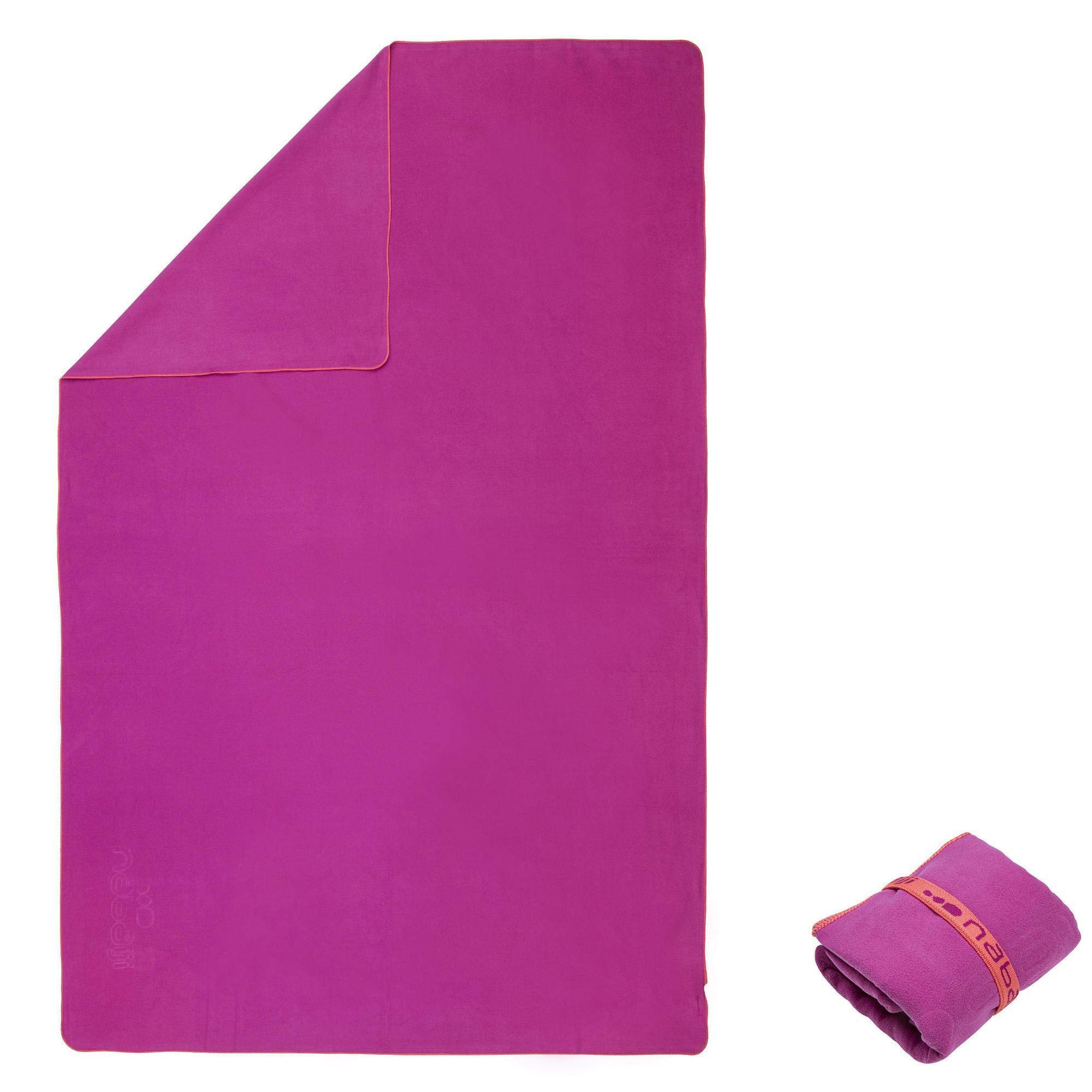 Nabaiji Sports Traveling Swimming Hiking Quick Dry Towels Microfiber Ultra-Light Beach/Gym/Hand Super-Absorbent Towels (Purple, 80cm x 130cm) by X-Sports