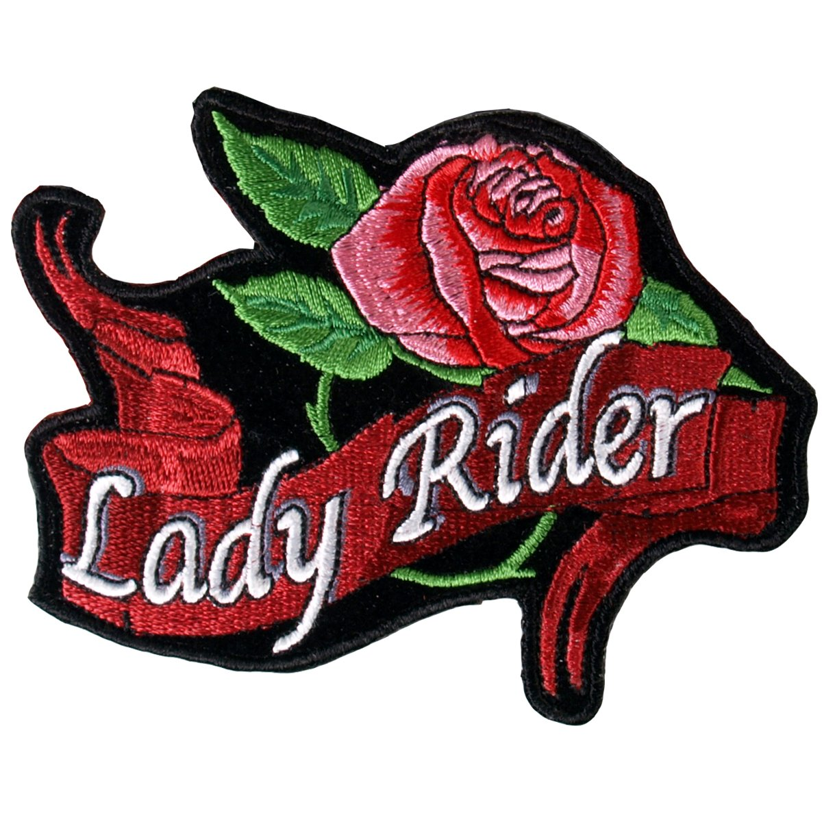 PPA1012 3 Width x 2 Height Hot Leathers Lady Rider Banner Patch