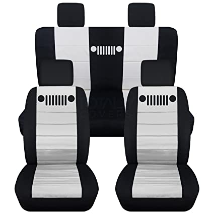 Groovy Totally Covers Fits 2007 2010 Jeep Wrangler Jk Seat Covers Black White Full Set Front Rear 23 Colors 2008 2009 2 Door 4 Door Complete Back Gamerscity Chair Design For Home Gamerscityorg