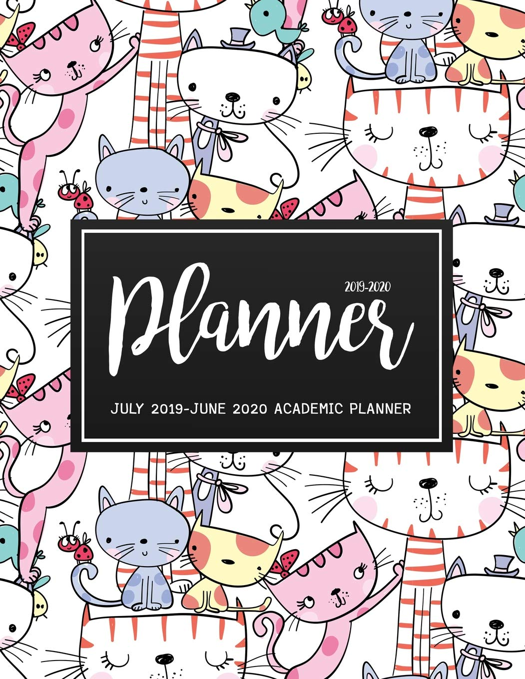 Calendar Clip Art February 2020 July 2019 June 2020 Academic Planner: Two Year   Daily Weekly