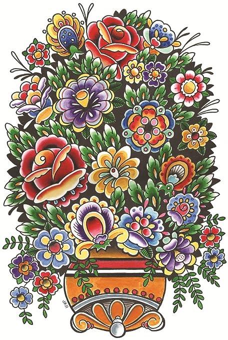 amazon com black market art flower vase joe kowalski mexican style