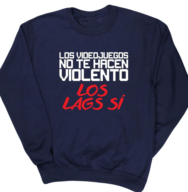 HippoWarehouse LOS VIDEOJUEGOS NO TE HACEN VIOLENTO LOS LAGS SÍ jersey sudadera suéter derportiva unisex niños niñas: Amazon.es: Ropa y accesorios