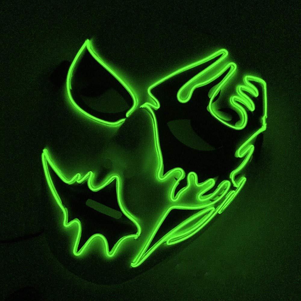 Mascara De Halloween, Luz Fria, Luz Mascara, Baile, Danza De Luz: Amazon.es: Hogar