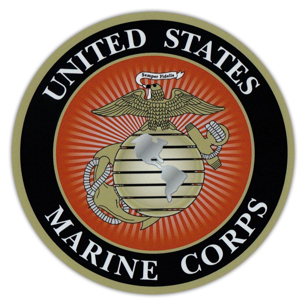 Round Magnet - USMC Marine Corp, Semper Fidelis, Military - Cars, Trucks, SUVs, Refrigerators, Etc.