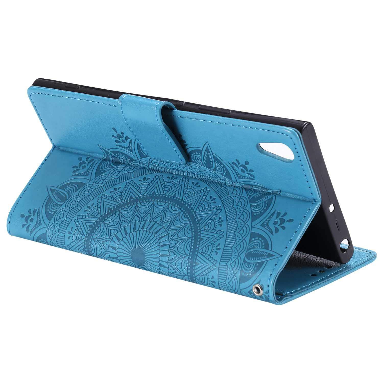Gold Klapp St/änder Ledertasche kompatibel mit Sony Xperia XA1 Ultra Sony Xperia XA1 Ultra H/ülle CAXPRO/® Brieftasche Leder H/ülle Magnetischen Sto/ßfest Schutzh/ülle