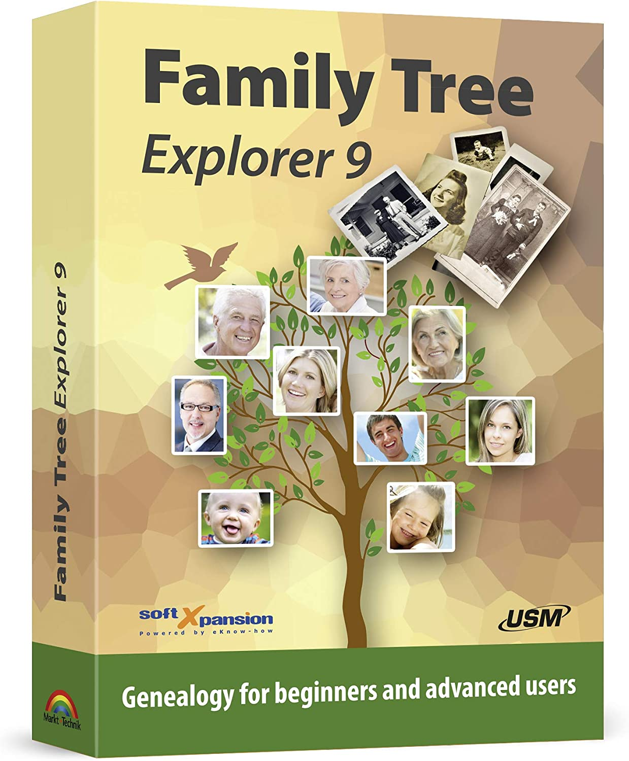 Amazon Com Family Tree Explorer 9 Genealogy Software Compatible With The International Gedcom Format Compatible With Win 10 8 1 7