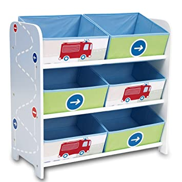 Aufbewahrungsregal Spielzeugkiste Kinderregal Regal 6 Boxen