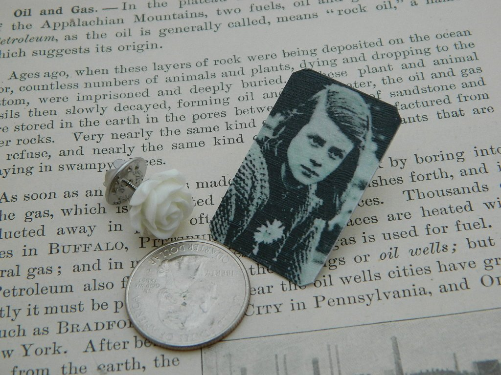 The White Rose jewelry Sophie Scholl brooch Peace jewelry Womens History