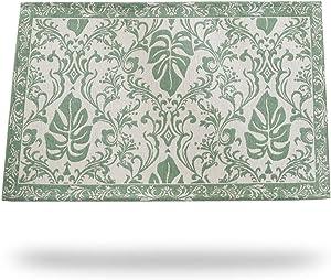Original Indoor Doormat, Monstera Leaves Door Mats Indoor Rug, 24X36 inch Machine Washable Low-Profile Inside Door Mat for Entryway