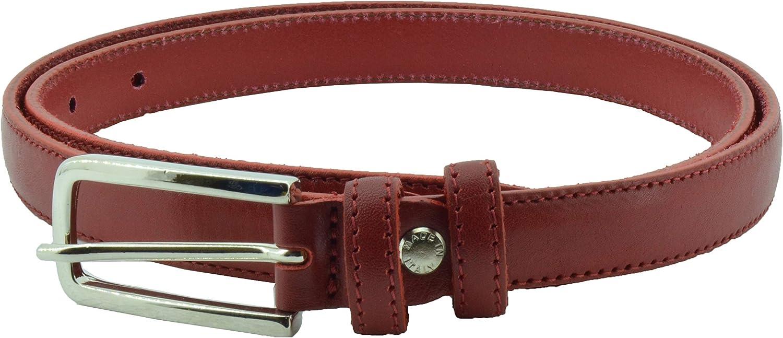 Conte Massimo Cintura Donna Sottile In Vero Cuoio Made in Italy tg 48-50 Accorciabile Blu 110