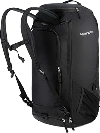 Mouteenoo Travel Duffel Backpack with Shoes Compartment Water Resistant Sports Duffle Gym Bag With Shoulder Straps for Men and Women