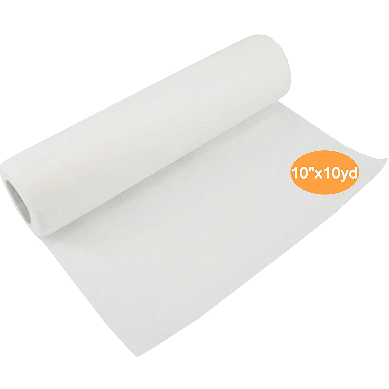 New brothread Wash Away (lavare via) stabilizzatore per ricamo 10 x10 Yd/rotolo - Peso medio 40gm (1.5oz) - Taglia in varie dimensioni per il ricamo a macchina e il cucito a mano