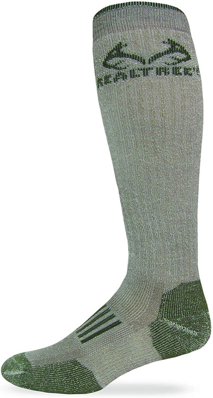 RealTree Heavyweight Merino Wool Tall All Season Boot Socks 1 Pair