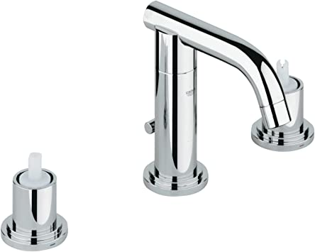 Grohe 20072000 Atrio 2 Handle Low Spout Kitchen Faucet 1 5 Gpm Touch On Bathroom Sink Faucets Amazon Com
