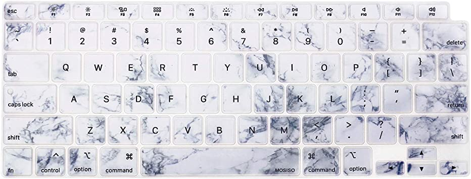 White Marble MOSISO Keyboard Cover Only Compatible with MacBook Air 13 inch 2020 Release A2337 M1 A2179 Backlit Magic Keyboard with Retina Display /& Touch ID Waterproof Protective Silicone Skin
