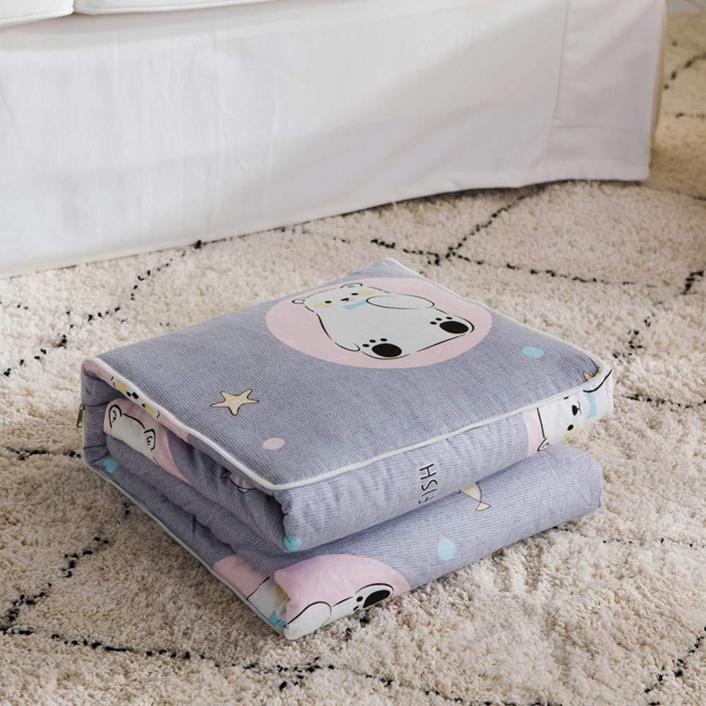 XZDXR Baumwolle Kissen ist Baumwolle Kissen Quilt Dual-Use-Baumwolle Multifunktions-Kissen Klimaanlage ist Arktis Liebe grau 40X40cm entfaltet 90X150cm Jingdong Preis