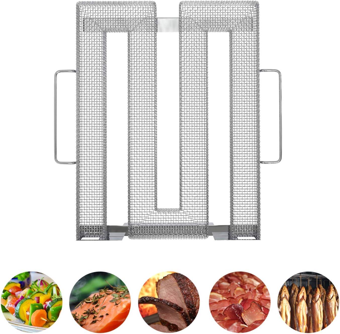Neco+ Generador de Humo frío, Acero Inoxidable, para Carne, Pescado y Verduras en la Parrilla, ahumador o ahumador, Aroma Fino a Humo por Olor frío