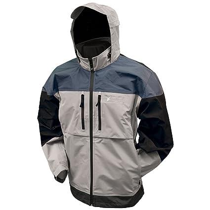 Frogg Toggs Men's Anura 3-Tone Jacket, Dove Grey/Slate/Black,