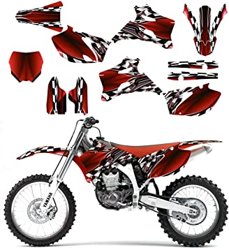 Yamaha YZ250F YZ450F 2008-2009 Dirt Bike Graphics Decal Kit by Allmotorgraphics NO3333 Red