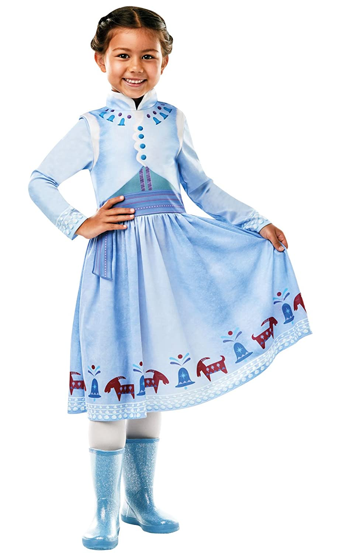 Frozen - Disfraz de princesa Anna para niña, infantil 7-8 años (Rubies 640766-L)