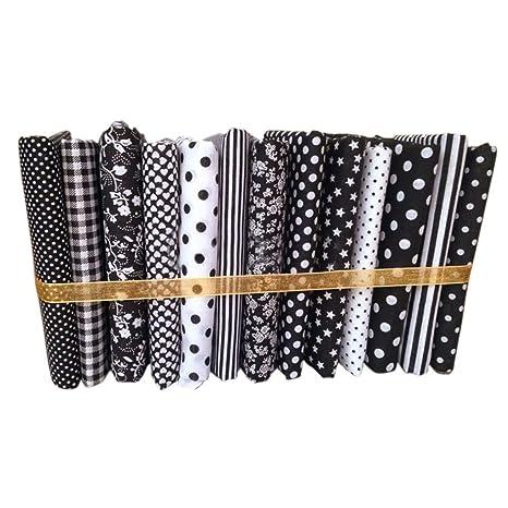 Compra Hotaluyt 13pcs 50x50cm Serie Negro de Tela de algodón ...