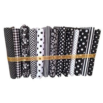 lafyHo 13pcs 50x50cm Serie Negro de Tela de algodón de Coser ...