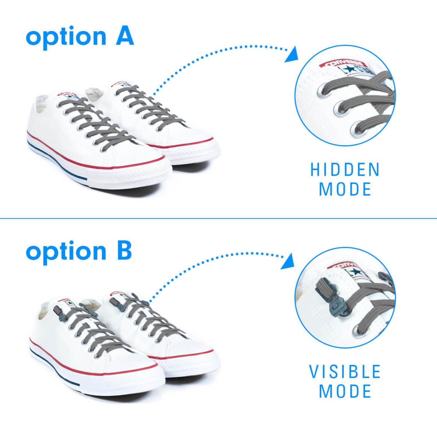 One Size Fits All Adult and Kids Shoes Xpand No Tie Shoelaces System with Elastic Laces Pack of 3