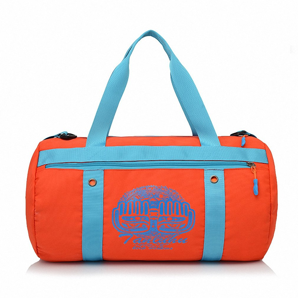 Swimming bag dry and wet separation large capacity beach bag men and women package bag portable waterproof travel outdoor package Orange 44 24 24CM by BBagi