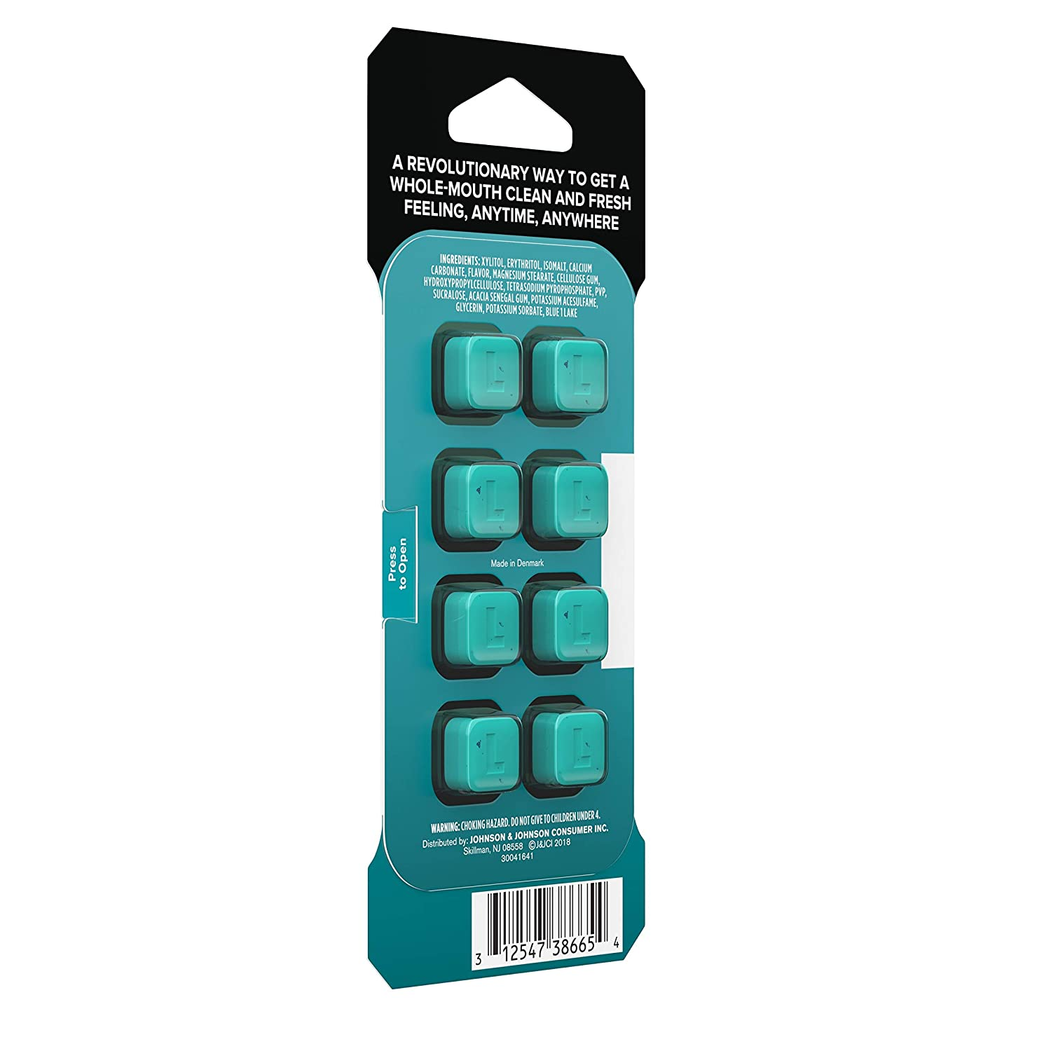 Listerine Ready Tabs Chewable Tablets Sugar Alcohol Free Clean Mint Flavor 8 Ct
