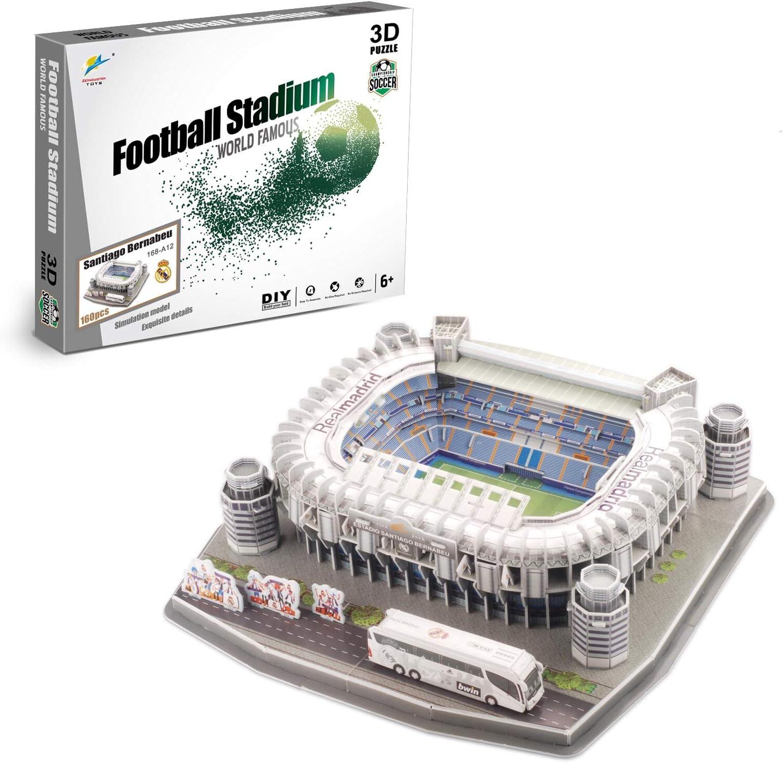 Zeye 3D Puzzle - Estadio Santiago Bernabeu - Real Madrid: Amazon.es: Juguetes y juegos