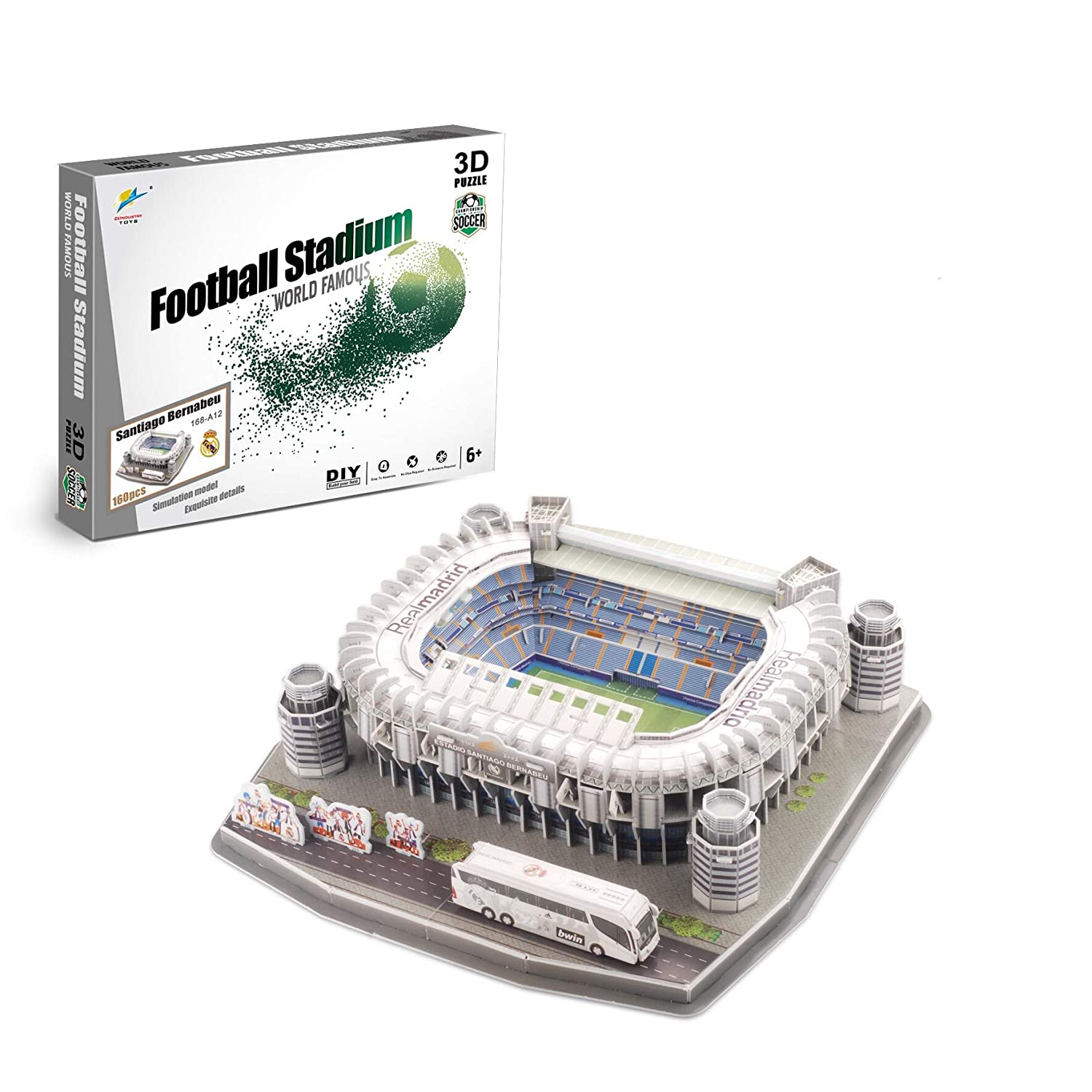 Zeye 3D Puzzle - Estadio Santiago Bernabeu - Real Madrid ...