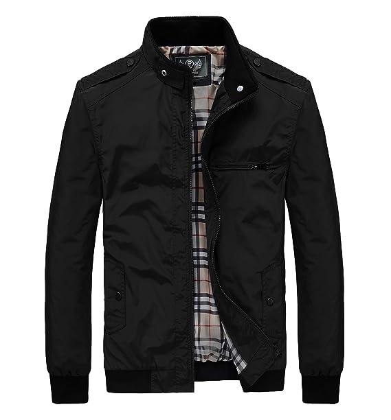 Amazon.com: RongYue - Chaqueta ligera para hombre: Clothing