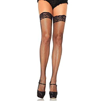 4d0ff0086cb55 Leg Avenue Women's Plus Size Stay-Up Fishnet Thigh Highs at Amazon Women's  Clothing store: Thigh Highs Hosiery