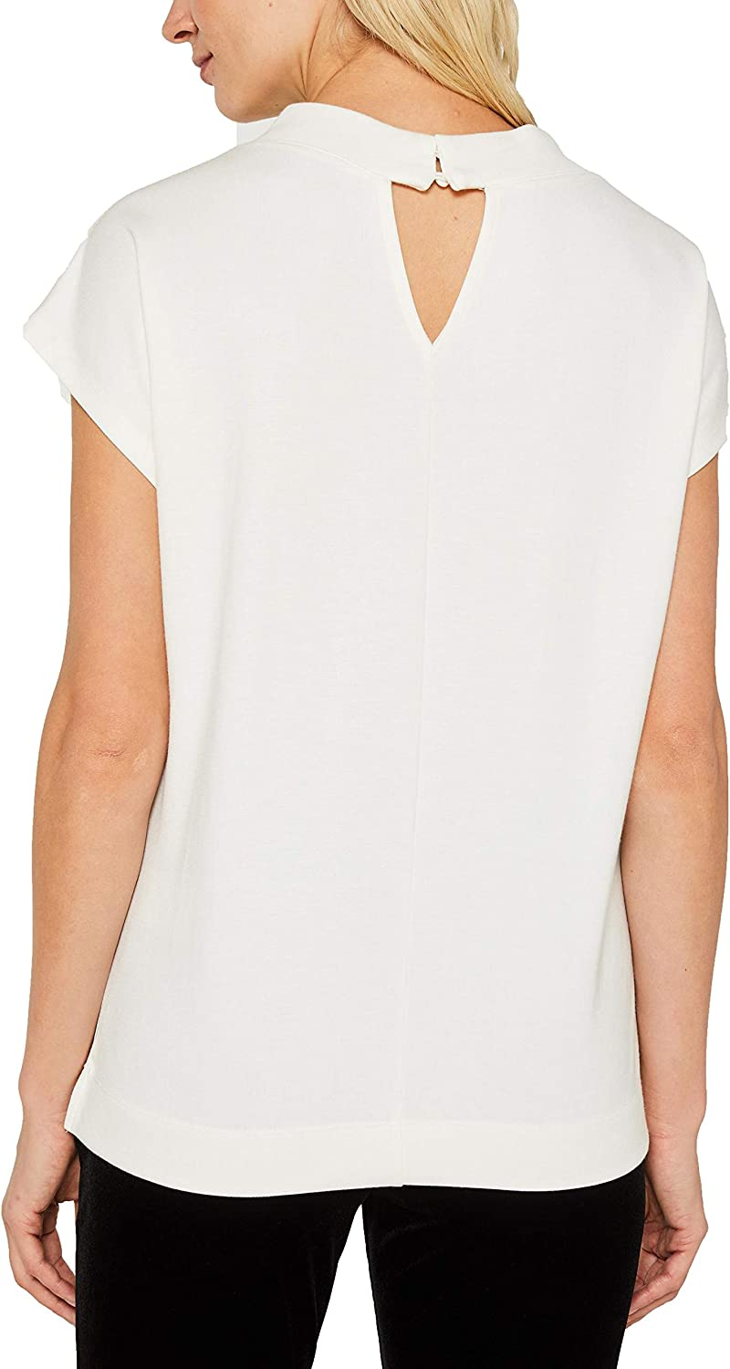 ESPRIT Women's Long Sleeve Top White (Off White 110)