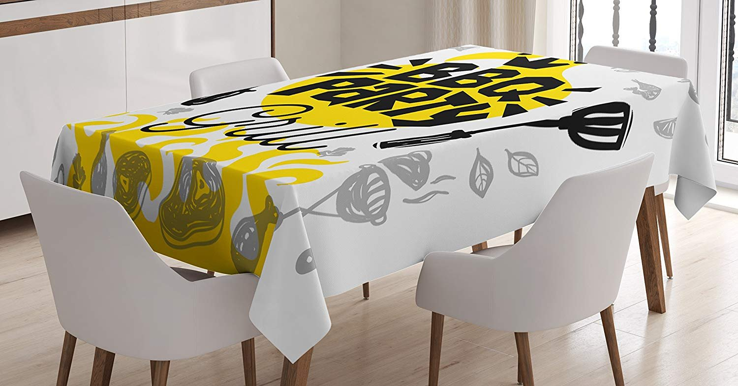 Amazon Com Fafahome Bbq Party Tablecloth Linen Decor Table Cover