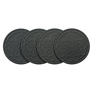 Le Creuset Silicone Set of 4 French Coasters, Oyster