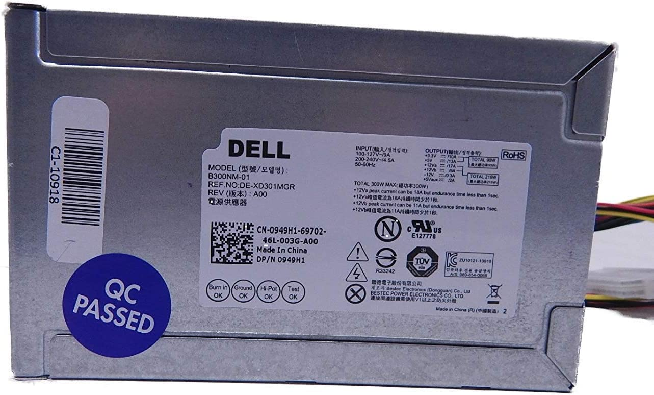 Dell 949H1 - PSU 300W Switching BesTec B300NM-01 Inspiron 3847 Tower