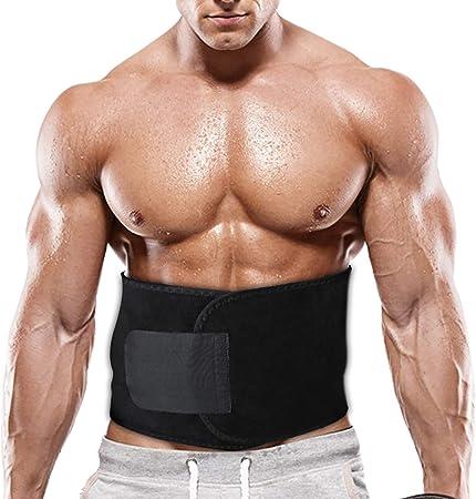 Portzon Waist Trimmer for Men & Women, Neoprene Stomach Wrap, Exercise & Fitness Waist Belt Adjustable Slimmer Body Shaper