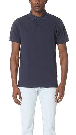 931a21ac Sunspel Men's Short Sleeve Pique Polo Shirt, Navy, Small